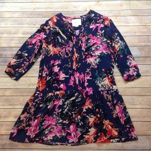 Anthropologie Maeve Floral Dress Size Small